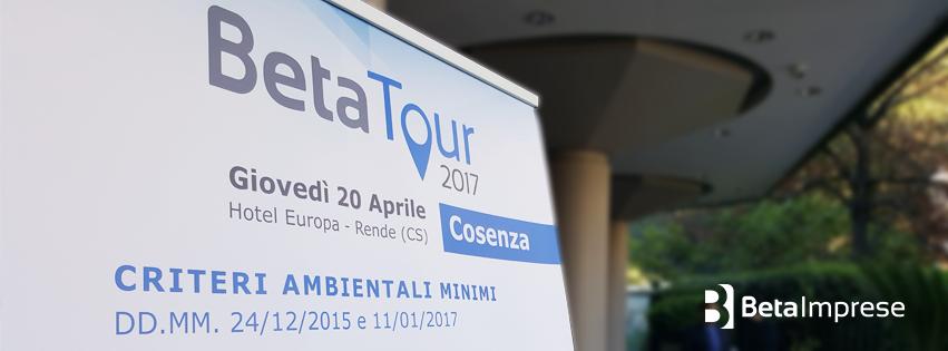 cosenza beta tour 2017